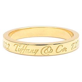 Tiffany & Co. Notes Narrow Band Ring 18k Yellow Gold Size 5