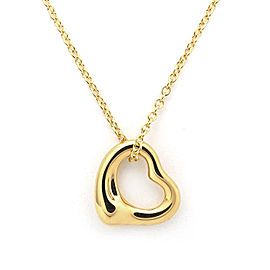 Tiffany & Co. Elsa Peretti Open Heart 18K Yellow Gold Necklace