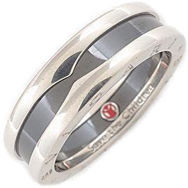 Bulgari B-zero1 Save the Children Sterling Silver Ceramic Ring Size 10.5