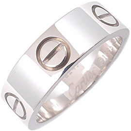 Cartier Love Ring 18K White Gold Size 5
