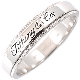 Tiffany & Co. Notes Platinum Rings Size 8.5