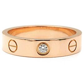 Cartier Mini Love Ring 18K Rose Gold 1 Diamond Size 5