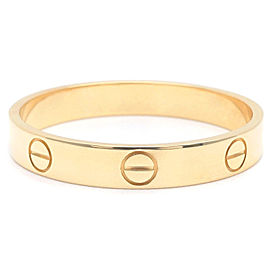 Cartier Mini Love 18K Yellow Gold Rings Size 11