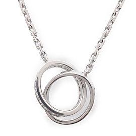 Cartier Baby Love Necklace 18K White Gold & Diamond