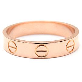 Cartier Mini Love 18k Rose Gold Ring Size 5