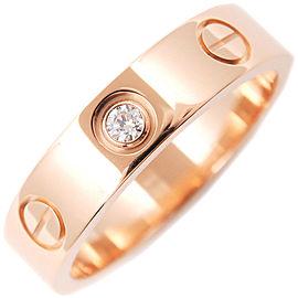 Cartier Mini Love Ring 18K Rose Gold 1 Diamond Size 4