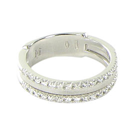 Marco Bicego Goa 18K White Gold with 0.26ctw Diamond Double Row Ring Size 7