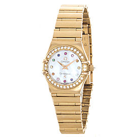 Omega Constellation Iris My Choice 18k Rose Gold Women's Watch