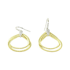 Marco Bicego 18K Yellow Gold with 0.23ctw Diamond Cairo Drop Earrings