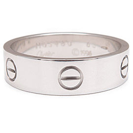 Cartier Love Ring 18K White Gold Size 10.5