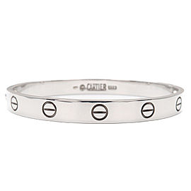 Cartier Love Bracelet 18K White Gold Size 16