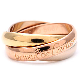 Cartier Trinity Ring 18k White, Rose and Yellow Gold Size 4