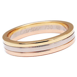 Cartier 18k White, Rose and Yellow Gold Ring Size 5