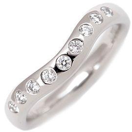 Tiffany & Co. Curved Platinum Diamond Ring