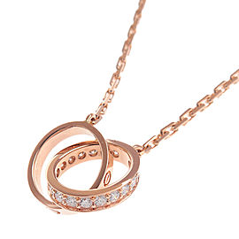 Cartier Baby Love Necklace 18K Rose Gold Diamond
