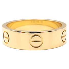 Cartier Love Ring 18K Yellow Gold Size 7.25