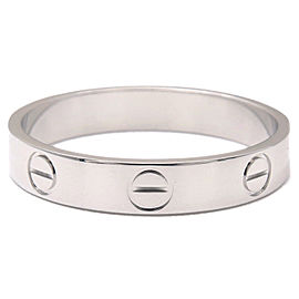 Cartier Mini Love Ring 18K White Gold Size 7.5