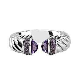 DAVID YURMAN AMAZING STERLING SILVER WAVERLY 18 MM BRACELET AMETHYST