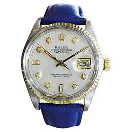 Rolex Oyster Perpetual Datejust 1601 36mm Mens Watch