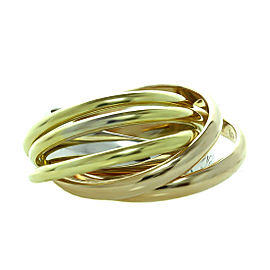 CARTIER Trinity La Belle Diamond 18k Tri-Gold 6-Band Ring Size 46 $3500