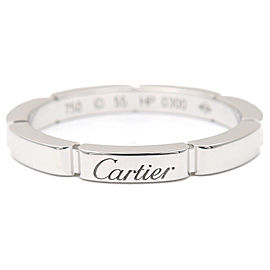 Cartier 18K White Gold Ring Size 7