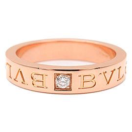 Bvlgari 18K Rose Gold Diamond Ring Size 7