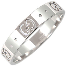 Gucci 18K White Gold Ring Size 8.5