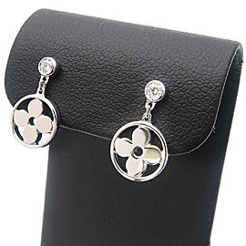Louis Vuitton 18K White Gold Diamond Earrings