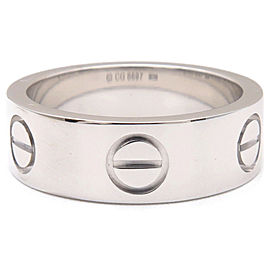 Cartier 18K White Gold Love Ring Size 4.5