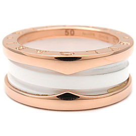 Bulgari Rose Gold Ceramic B-zero1 Ring Size 5.5
