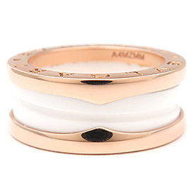 Bulgari Rose Gold Ceramic B-zero1 Ring Size 6