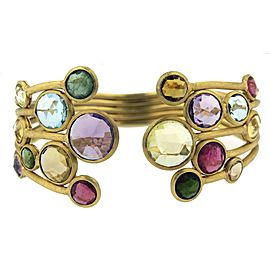 Marco Bicego 18k Yellow Gold Mixed Gemstones Jaipur Color 5 Row Bracelet