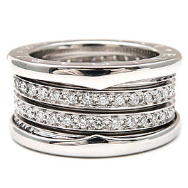 Bulgari 18K White Gold B-zero1 Diamond Ring Size 5.5