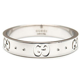 Gucci 18K White Gold Ring Size 9