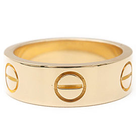 Cartier 18K YG Love Ring Size 4.5