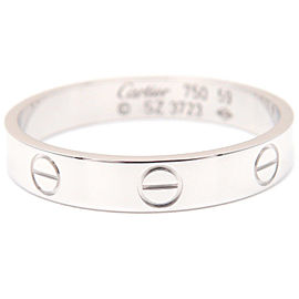 Cartier 18K WG Mini Love Ring Size 9