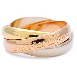 Cartier 18K Trinity Ring Size 4