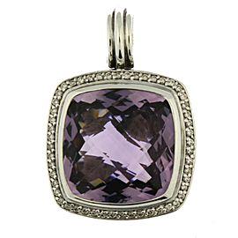 David Yurman Albion Sterling Silver Amethyst, Diamond Pendant