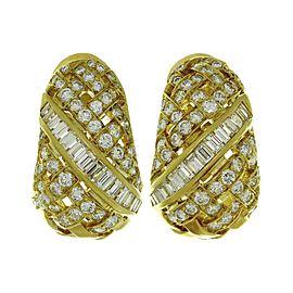Tiffany & Co. Vannerie 18K Yellow Gold Diamond Earrings