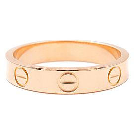 Cartier 18K RG Mini Love Ring Size 5.25