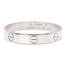 Cartier 18K WG Mini Love Ring Size 10.75
