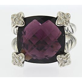 David Yurman Amethyst Diamond Ring Size 6