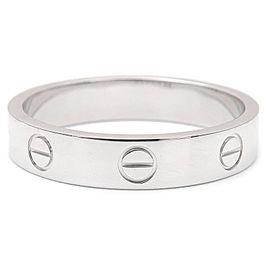 Cartier 18K WG Mini Love Ring Size 8