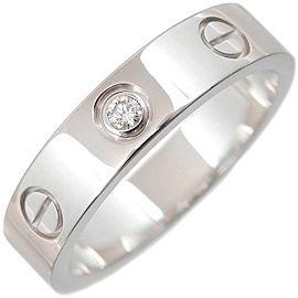 Cartier 18K WG Mini Love Diamond Ring Size 4.5