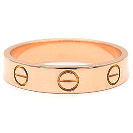 Cartier18K RG Mini Love Ring Size 5