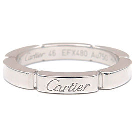 Cartier 18K WG maillon panthère Ring Size 3.5