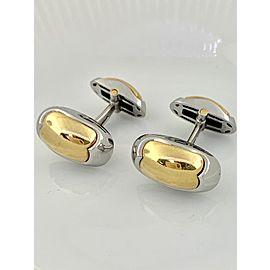 Bulgari 18K White Gold, 18K Yellow Gold Cufflinks