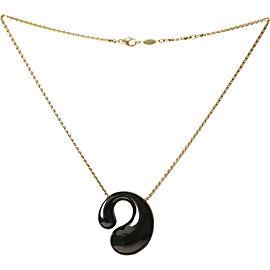 De Grisogono 18K Yellow Gold Enamel Pendant Necklace