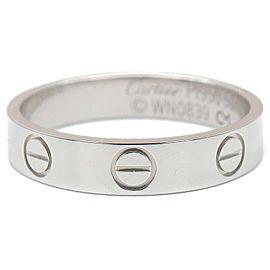 Cartier Platinum Mini Love Ring Size 5.5