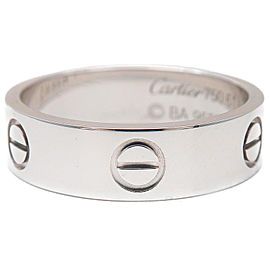 Cartier 18K WG Love Ring Size 10